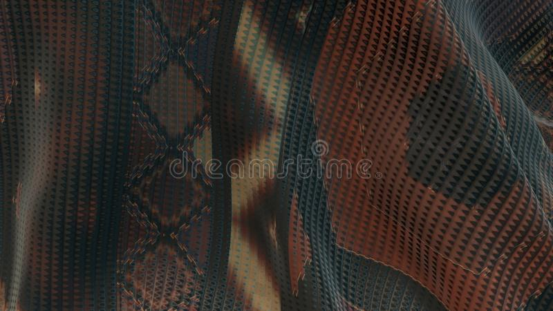 Pattern texture background of fabric with trendy style design. 3D rendered Illustration of fabric pattern for textile and printing. Pattern background with vector illustration