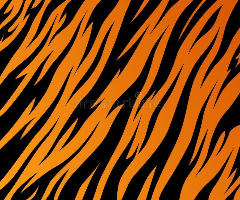 Pattern texture tiger fur orange stripe black jungle safari royalty free illustration
