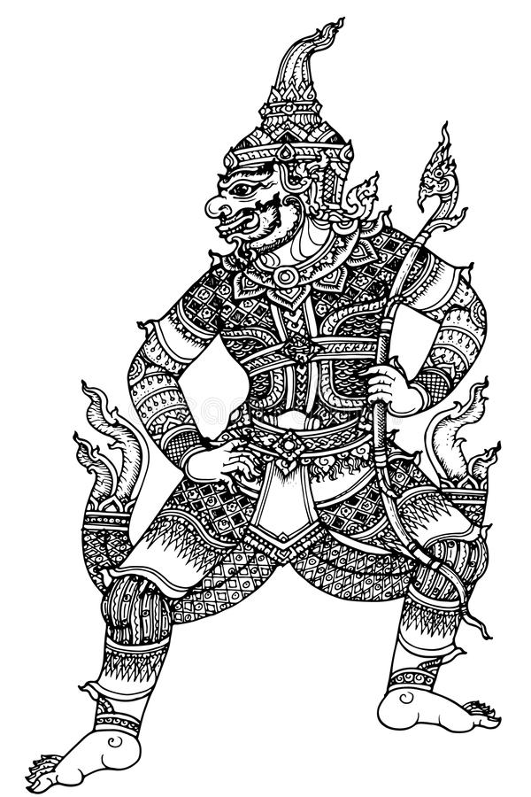 Pattern Thailand. Graphic pattern in traditional Thai style art in thailand royalty free illustration