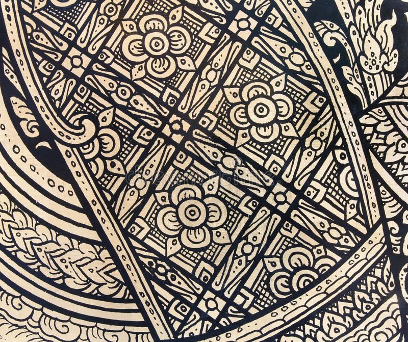 Pattern in traditional Thai style art painting royalty free stock photography