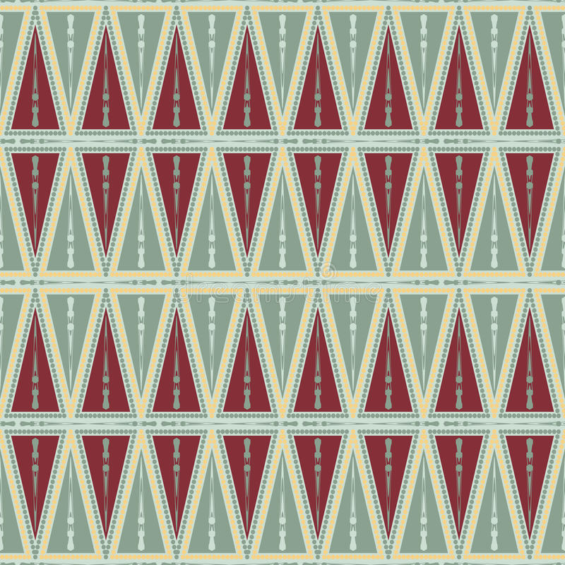 The pattern of triangles and circles royalty free illustration