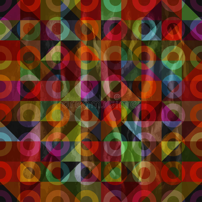 Pattern with triangles and torus vector illustration