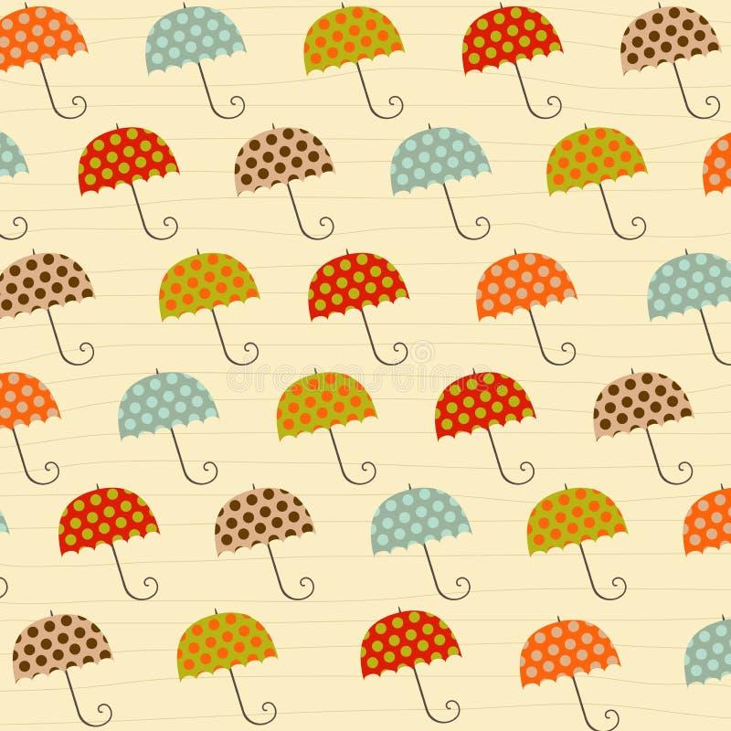 Pattern with umbrellas. Illustration in vector format vector illustration
