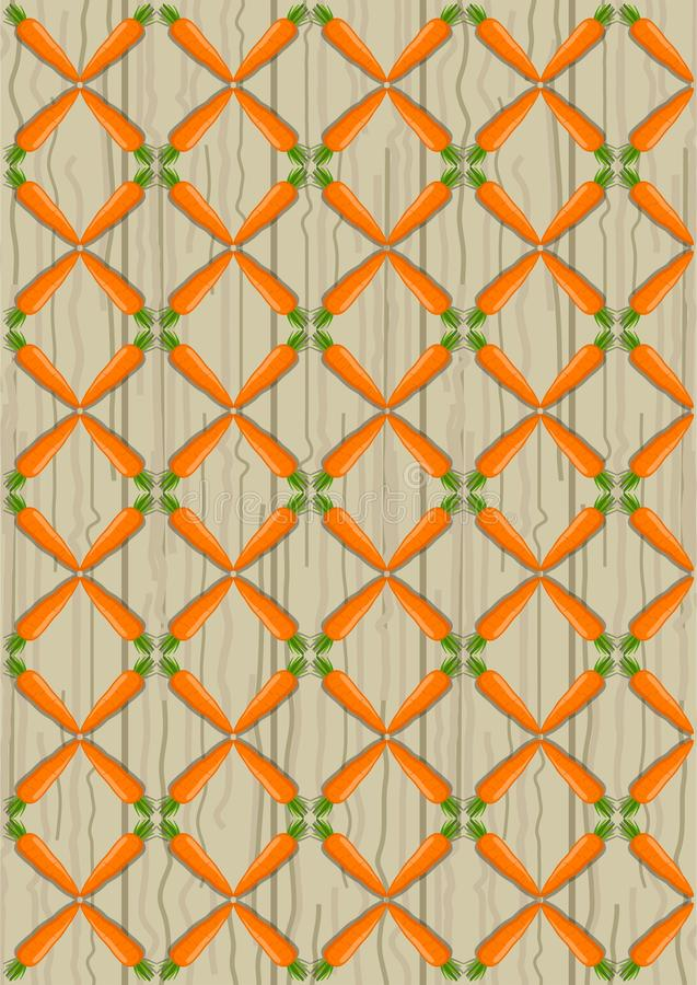 The pattern of vegetables on a wooden background. royalty free illustration