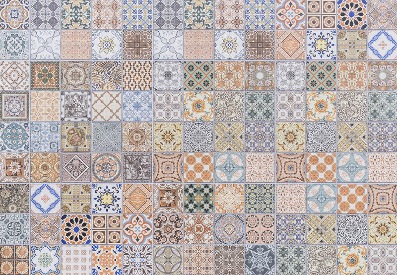 Pattern of vintage style wall tile texture. And background royalty free stock photo