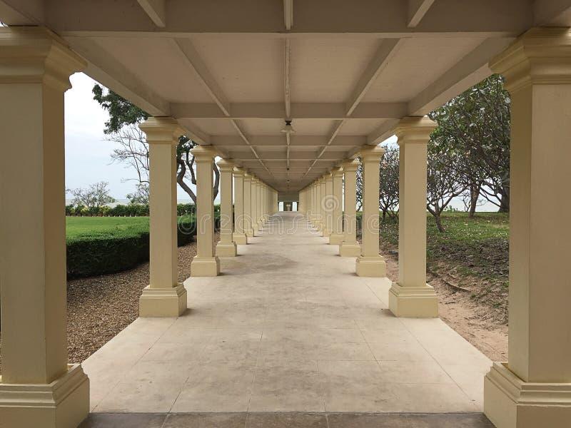 Pattern walkway/corridor in arcades architecture, stock image