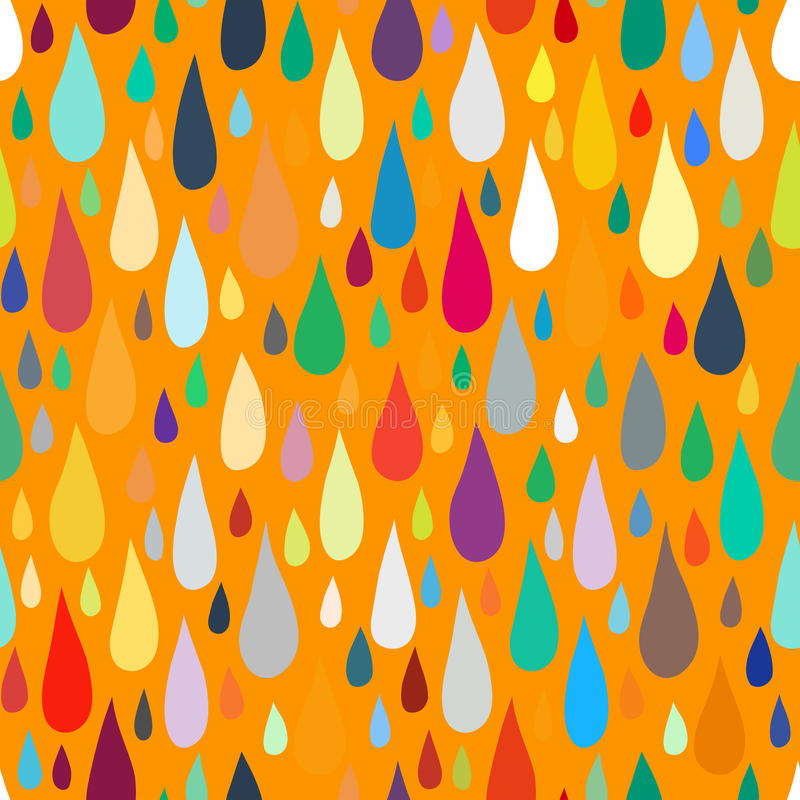 Pattern with water or paint drops royalty free illustration