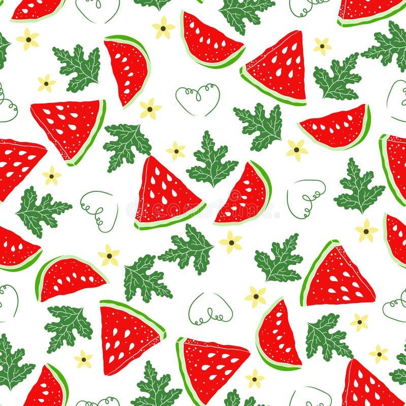 Pattern watermelon stock illustration