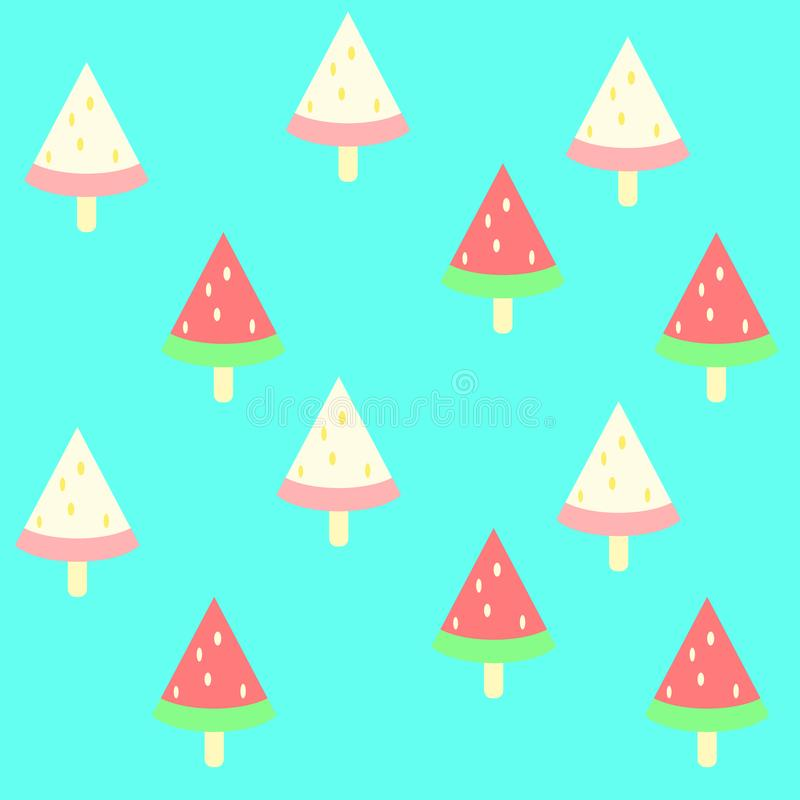 Pattern watermelon ice cream colourful pastel in summer stock images