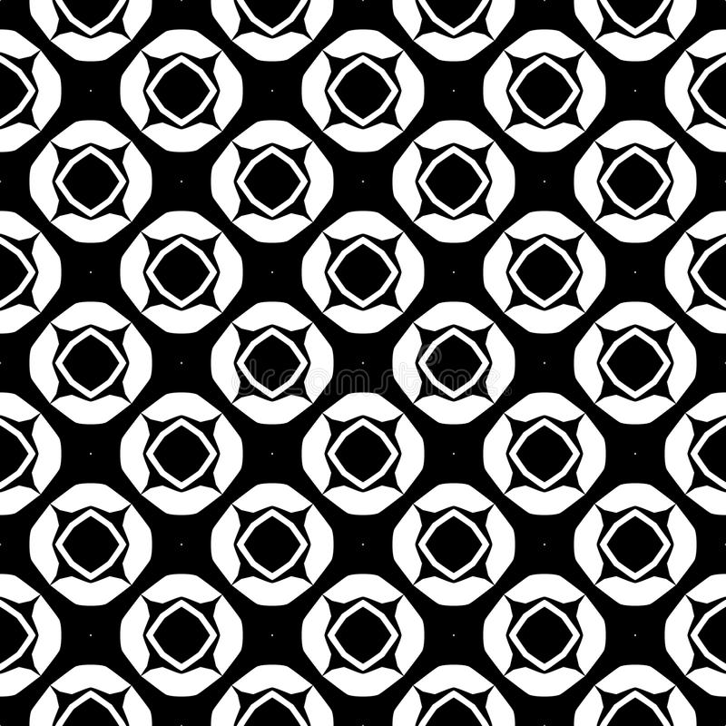 Download Vector Black And White Seamless Pattern Design Stock