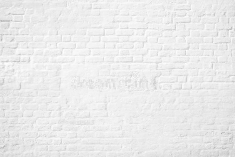Pattern of white brick wall background vector illustration
