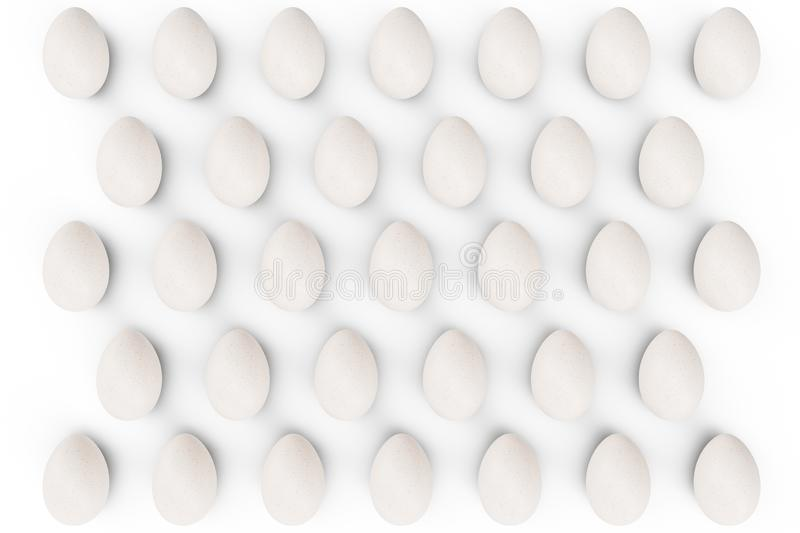 Pattern white eggs. Background of eggs. Concept happy easter. Eggs as a symbol of the holiday. Background for healthy stock photography