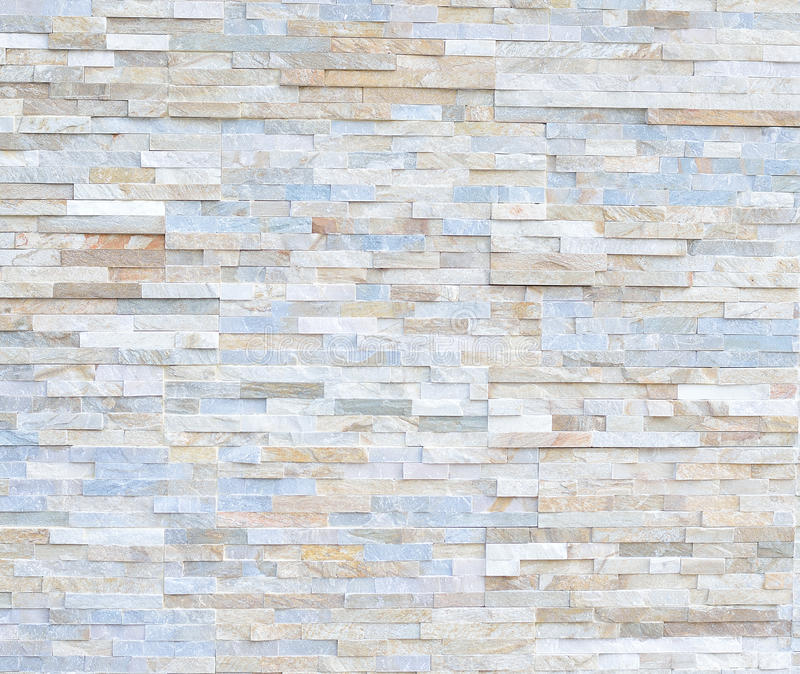 Pattern of White Modern stone Brick Wall Surfaced royalty free stock images