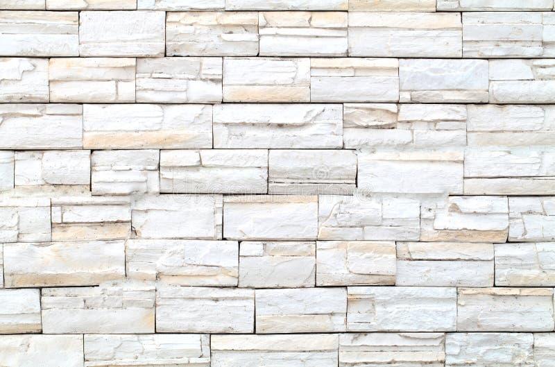 Pattern of White stone Brick Wall. Pattern of White Modern stone Brick Wall Surfaced royalty free stock photography
