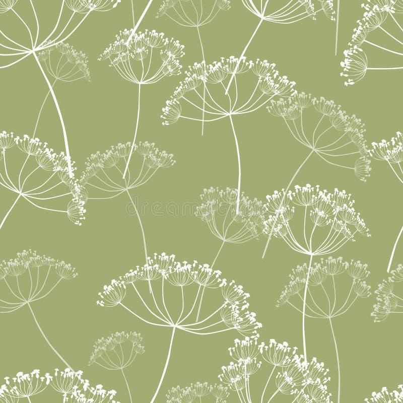 Pattern of the wild flowers stock illustration