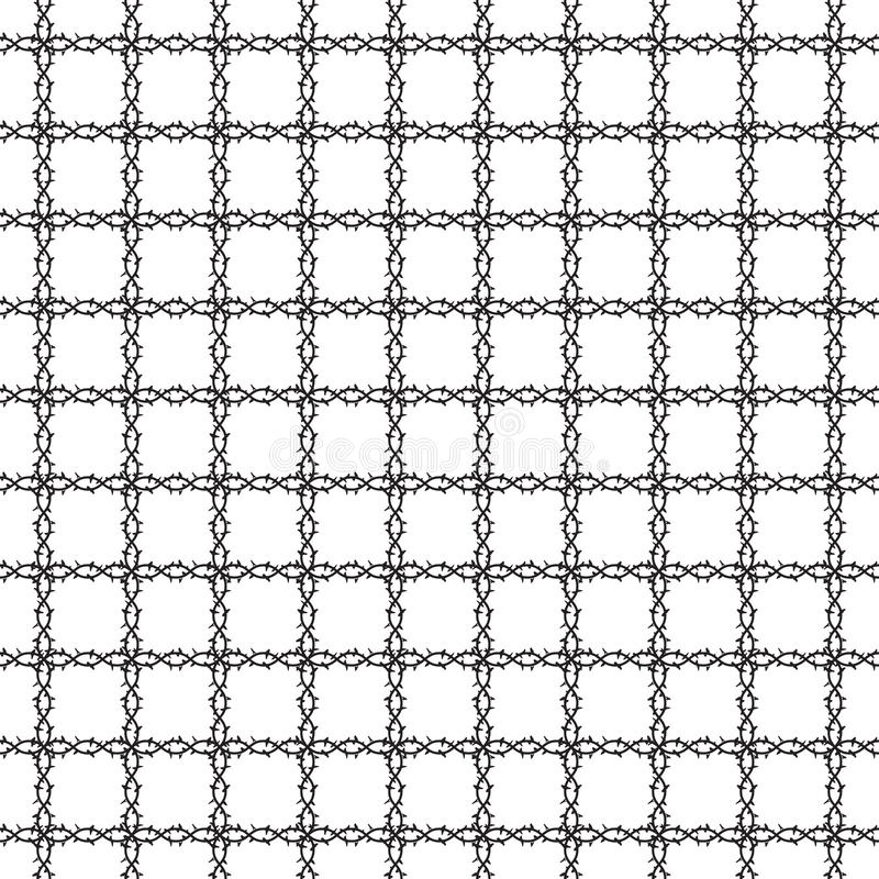 Pattern wire barb. Pattern seamless background wire barb fence illustration royalty free illustration