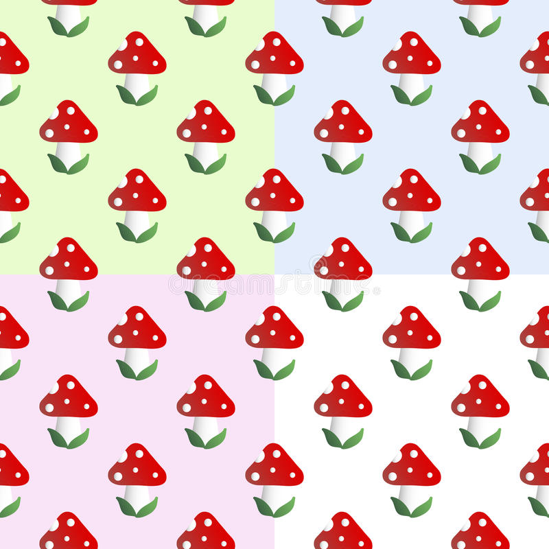 Free Pattern With Fly Agaric Stock Photography - 74945642