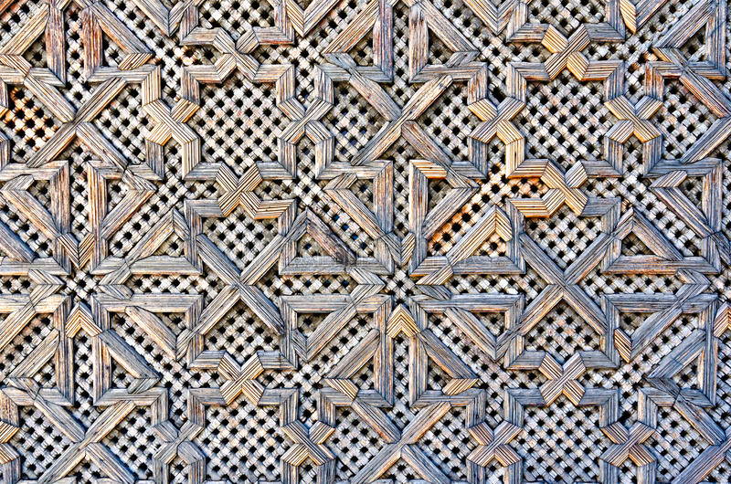 Pattern On A Wooden Gate Royalty Free Stock Images