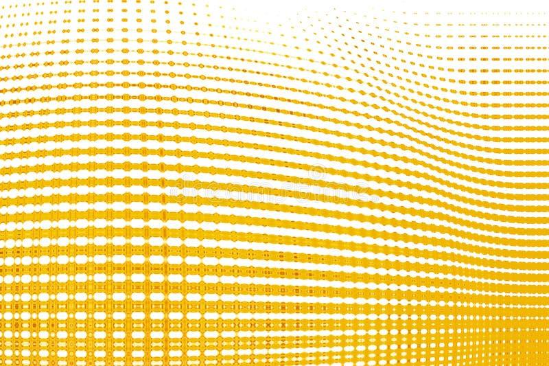 Pattern yellow geometric kaleidoscope symmetry. mosaic flower royalty free illustration