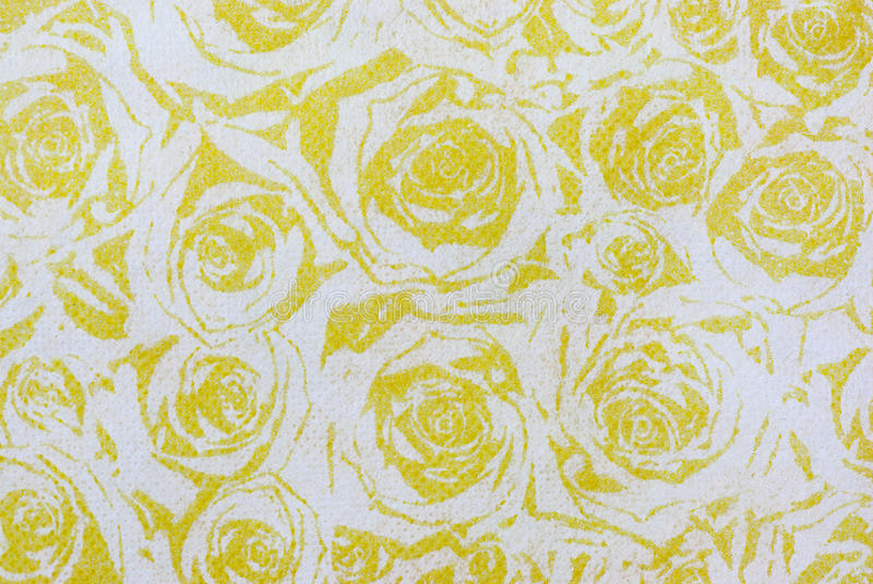 Pattern with yellow rose texture paper . stock images