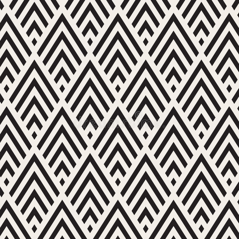 Pattern in zigzag. Classic chevron seamless pattern. Vector design. Pattern is on swatch panel royalty free illustration
