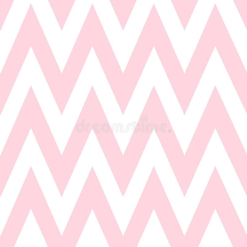Pattern in zigzag. Classic chevron seamless pink vector illustration