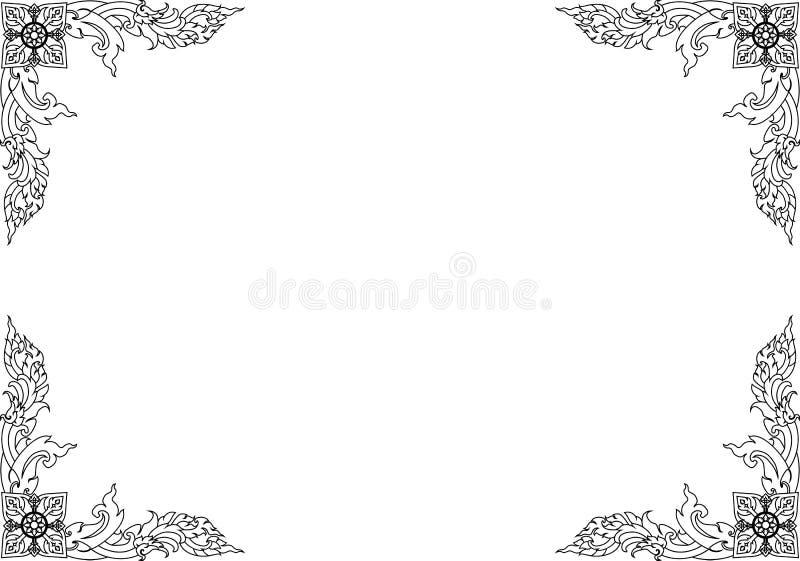 Pattern22 tailandés ilustración del vector