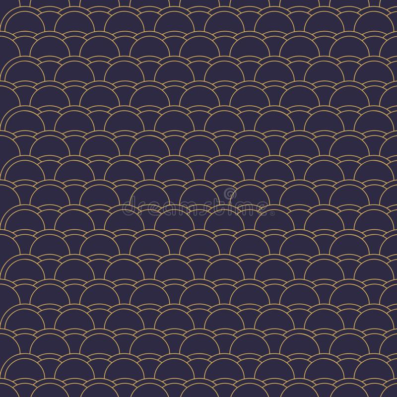 Vector abstract disc patterns with lines. royalty free illustration