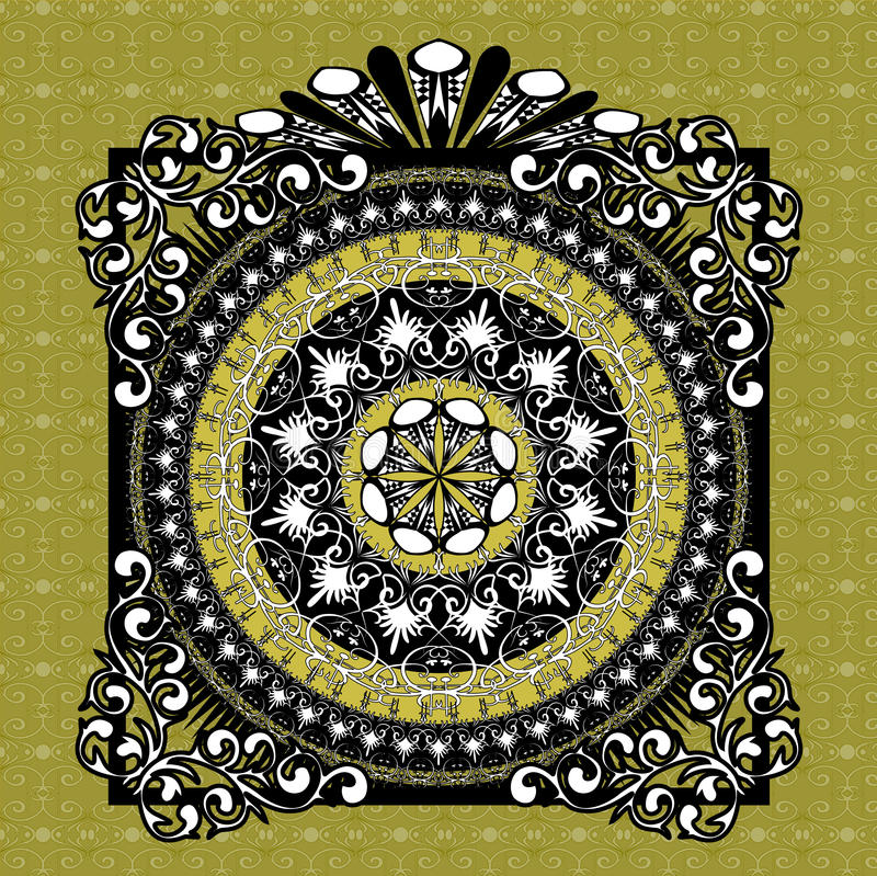 Patterned background royalty free illustration