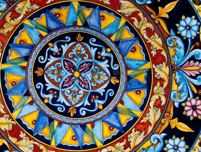 Patterned ceramic stock image