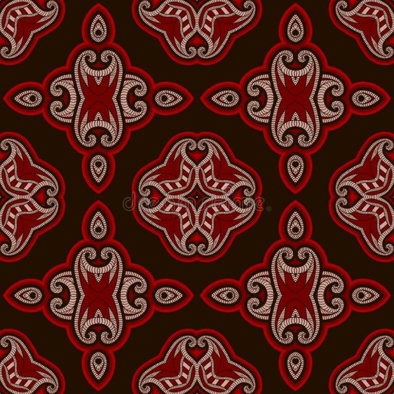 Patterned Floor Tile In Oriental Style. Stock Vector - Illustration ...