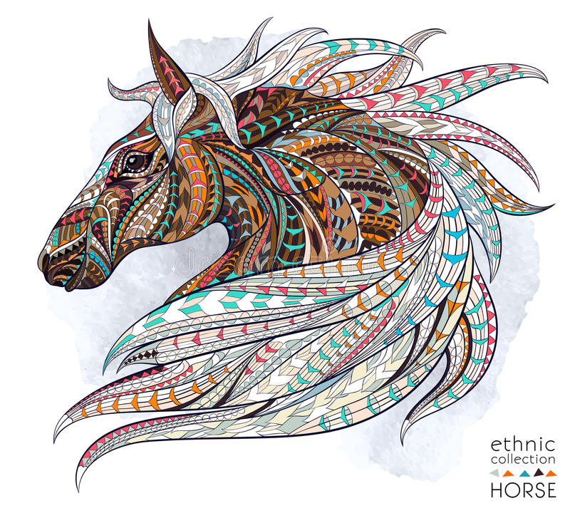 Free Patterned Head Of The Horse Stock Photo - 57610320