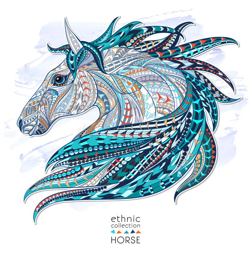 Free Patterned Head Of The Horse Royalty Free Stock Photos - 57610548