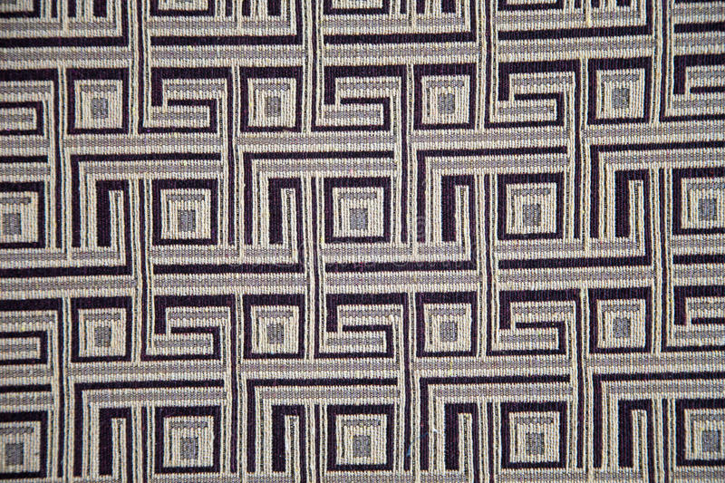 Patterned monochrome abstract fabric stock image