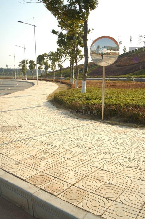 Patterned sidewalks royalty free stock images