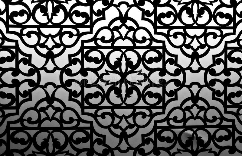 Patterned texture. (black and white color process royalty free stock photography