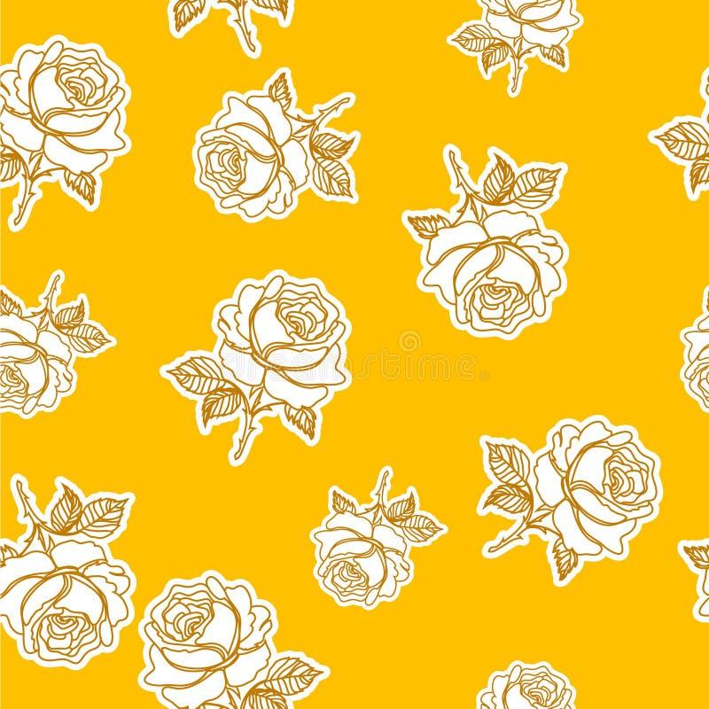 Patternet rose sans couture illustration de vecteur