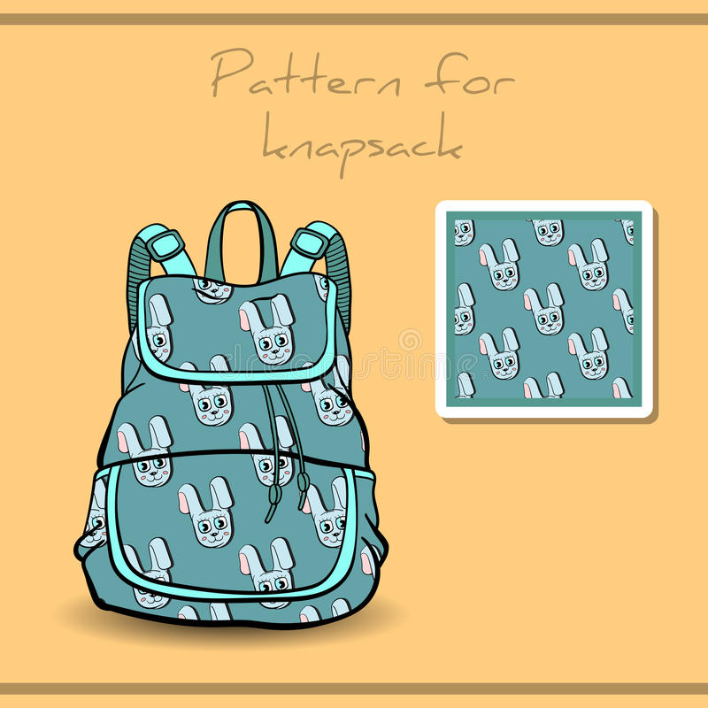 PatternKnapsack vector illustratie