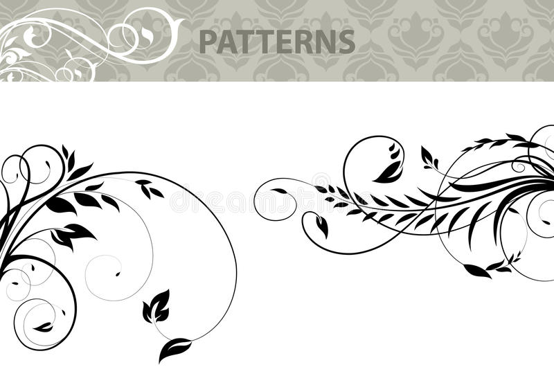 Download Patterns 2 stock vector. Image of tree, wave, black, nature - 24729084