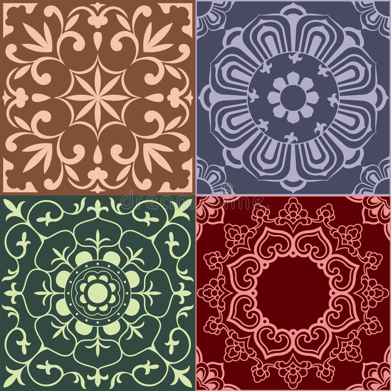 Patterns of China traditional style vector illustration