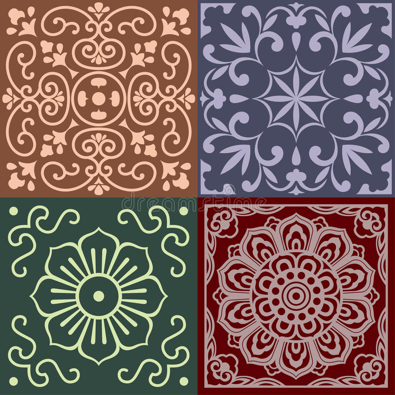Patterns Of China Traditional Style Stock Vector Image