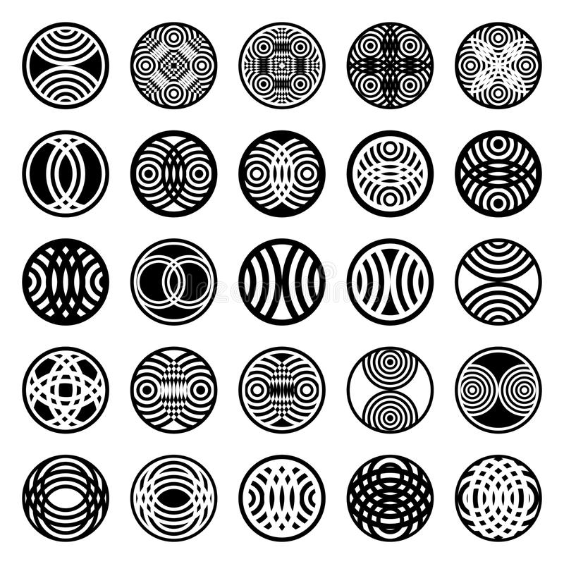 Download Patterns In Circle Shape. Design Elements. Stock Vector - Image: 22703930