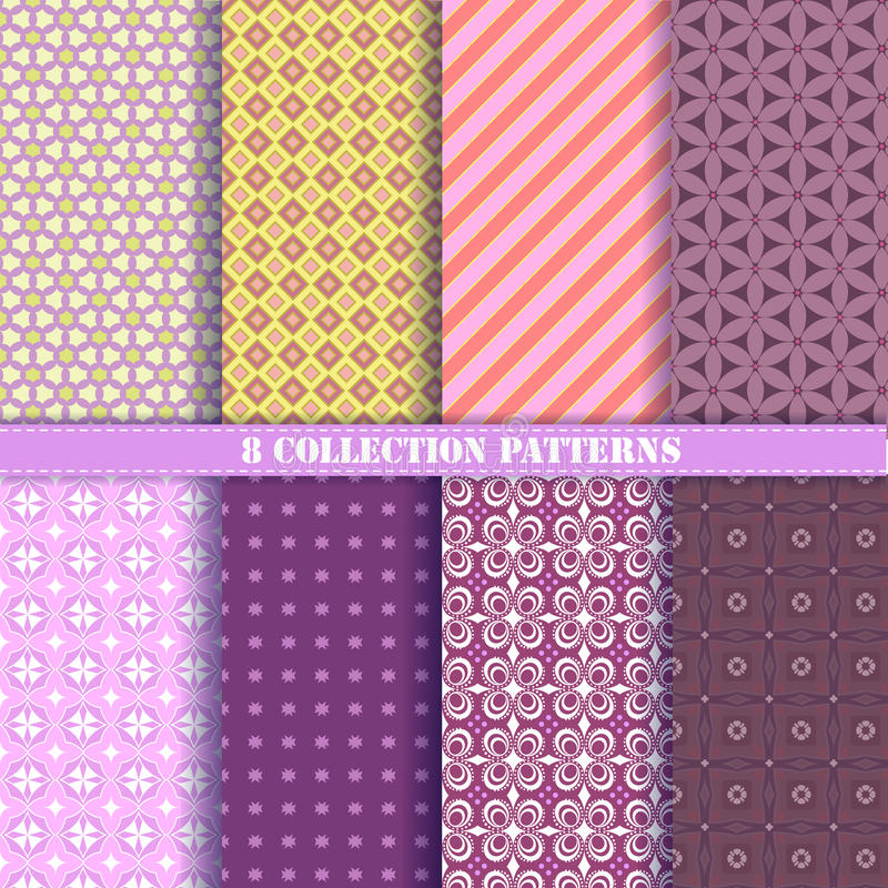 Patterns collectiom 8 purple royalty free stock photography