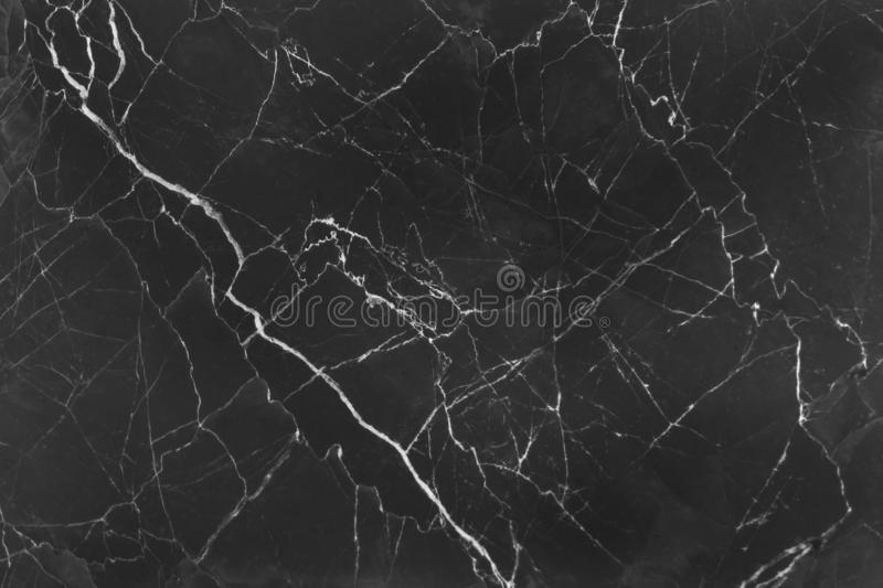 Patterns of nature black marble with white curly abstract texture for background stock images