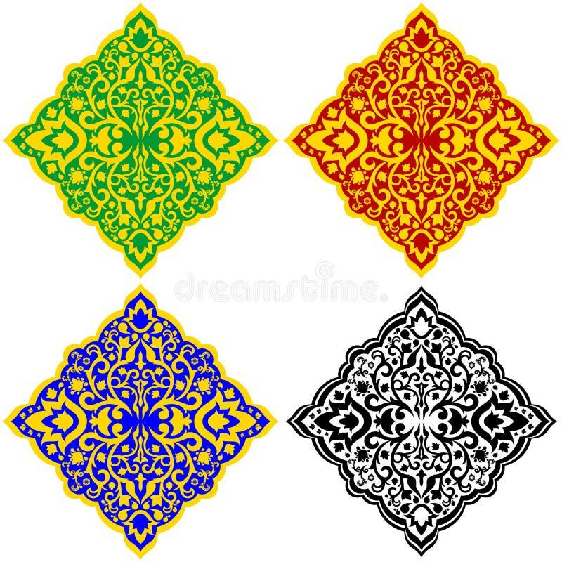 Patterns-1 oriental ilustração royalty free