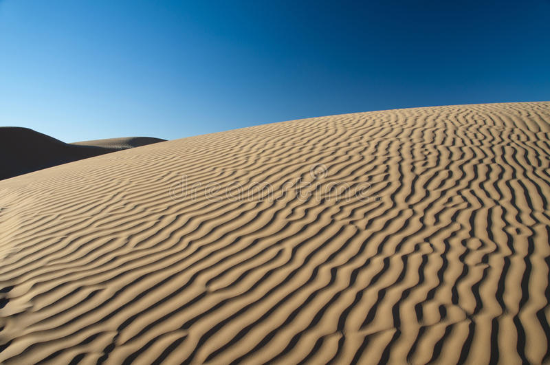 Patterns on the sand, dune, Sahara. Dunes of the Sahara, sand desert royalty free stock image