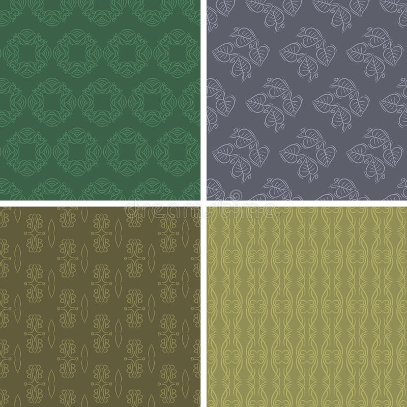 Patterns and seamless backgrounds. Printing onto fabric and pape. Patterns and seamless backgrounds. Ideal for printing onto fabric and paper or scrap booking royalty free illustration