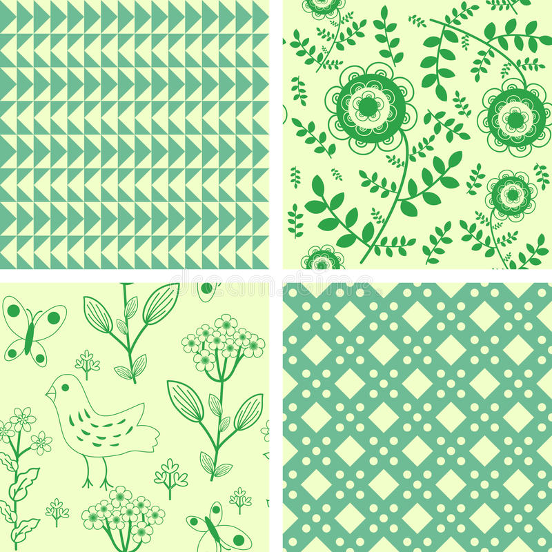 Patterns set vector illustration