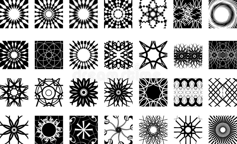 Patterns and shapes royalty free stock photography