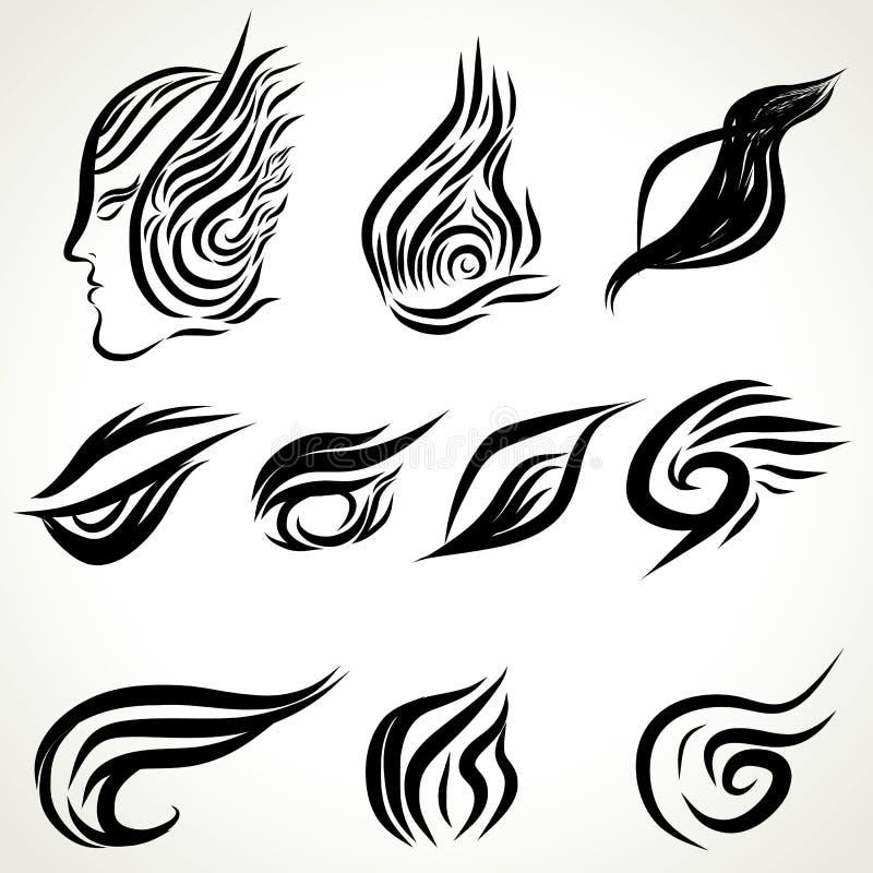 Patterns of tattoo art vector illustration